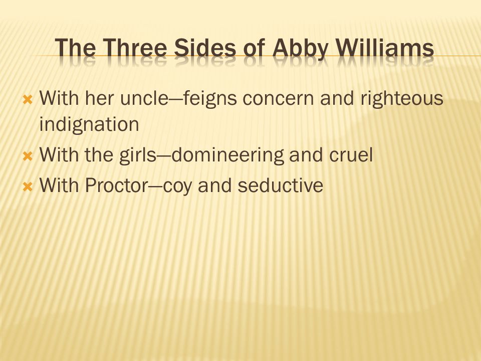 The Three Sides of Abby Williams