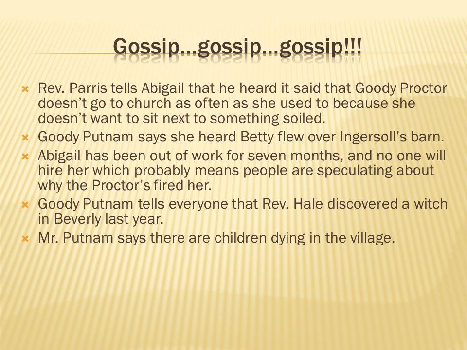 Gossip…gossip…gossip!!!
