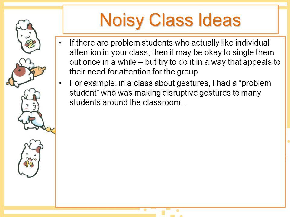 Noisy Class Ideas