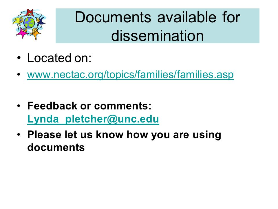 Documents available for dissemination