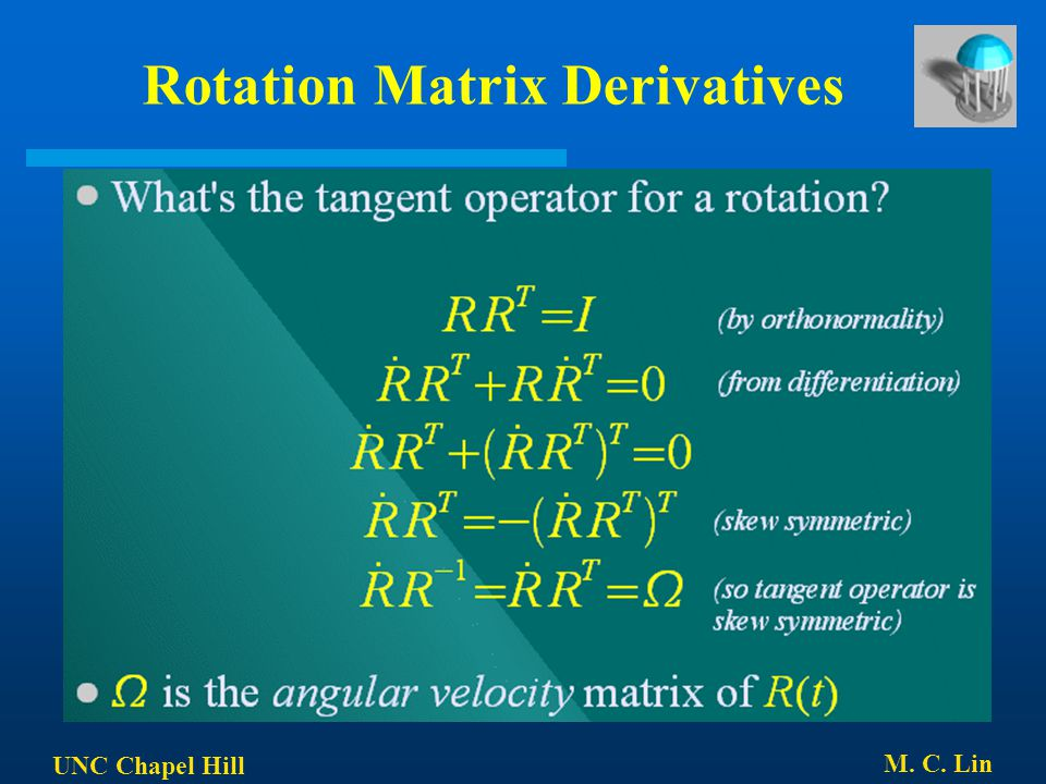 Rotation Matrix Derivatives