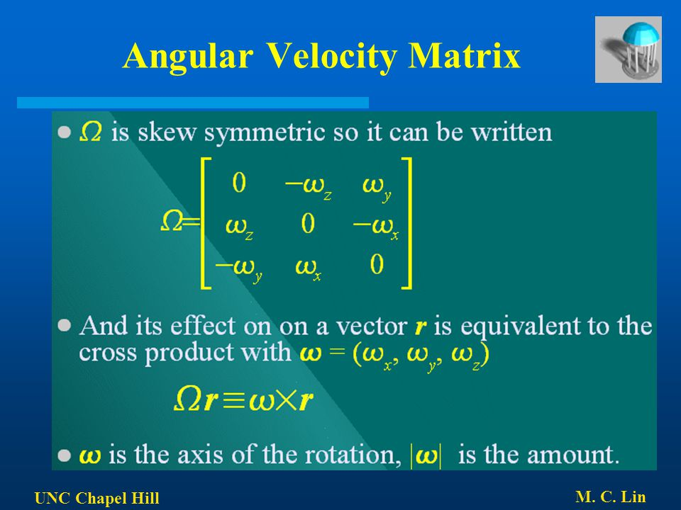 Angular Velocity Matrix