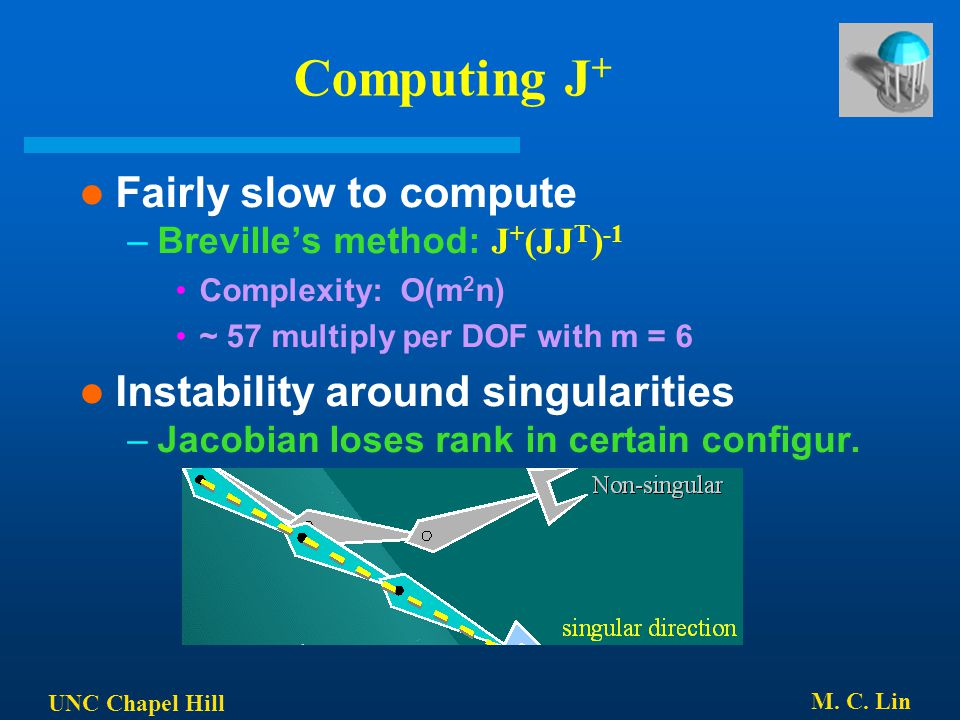 Computing J+ Fairly slow to compute Instability around singularities