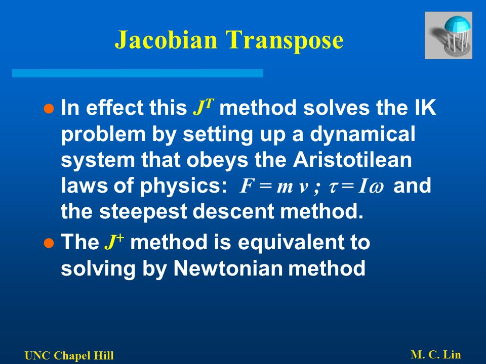 Jacobian Transpose