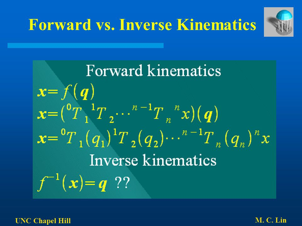 Forward vs. Inverse Kinematics