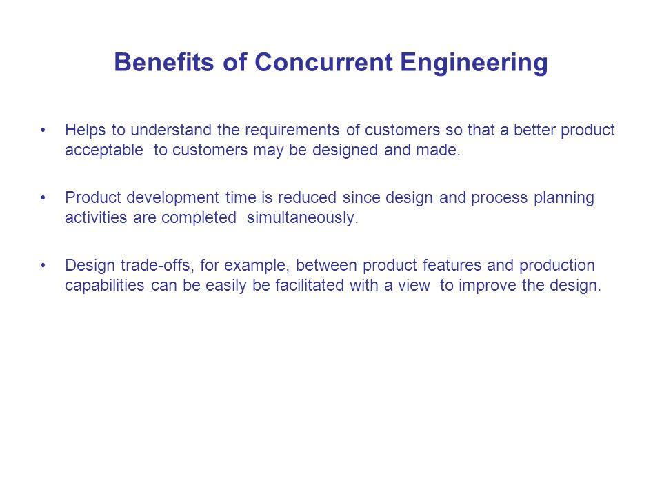 Benefits of Concurrent Engineering