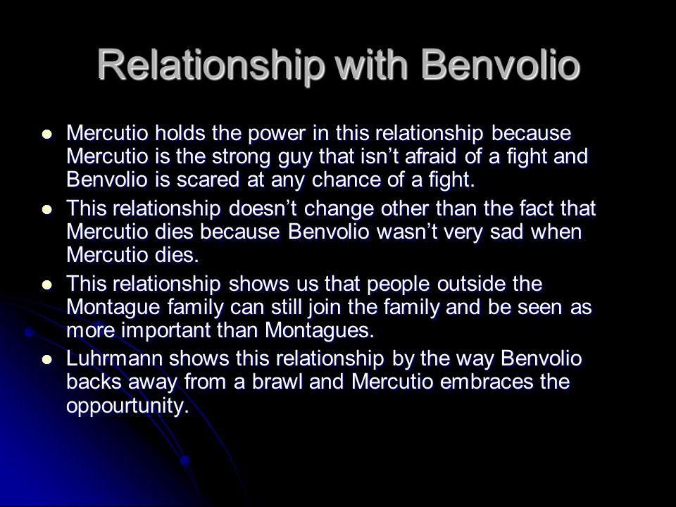 Relationship with Benvolio
