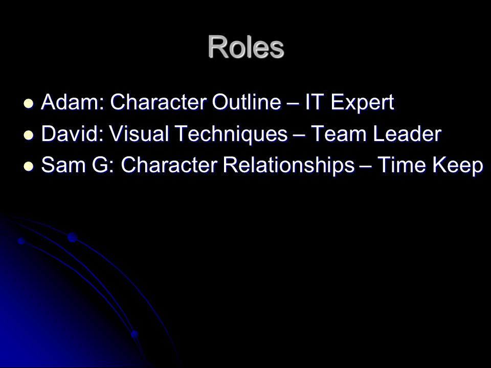 Roles Adam: Character Outline – IT Expert