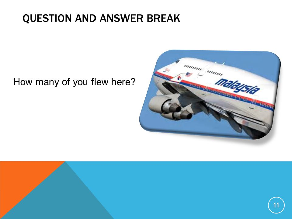Question and answer break