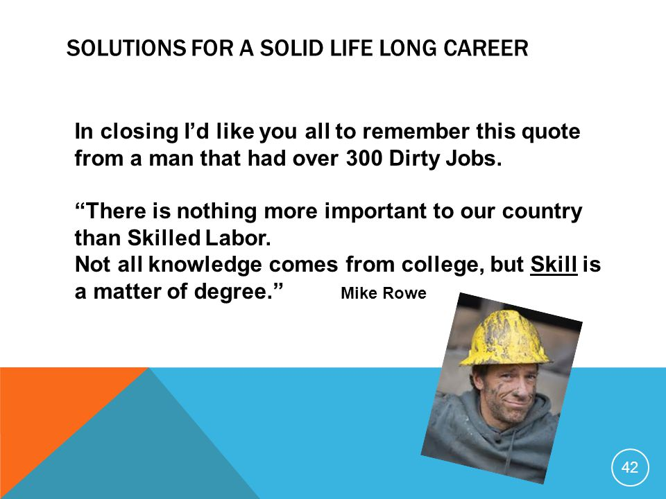 Solutions for a Solid Life long career