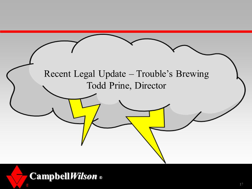Recent Legal Update – Trouble's Brewing