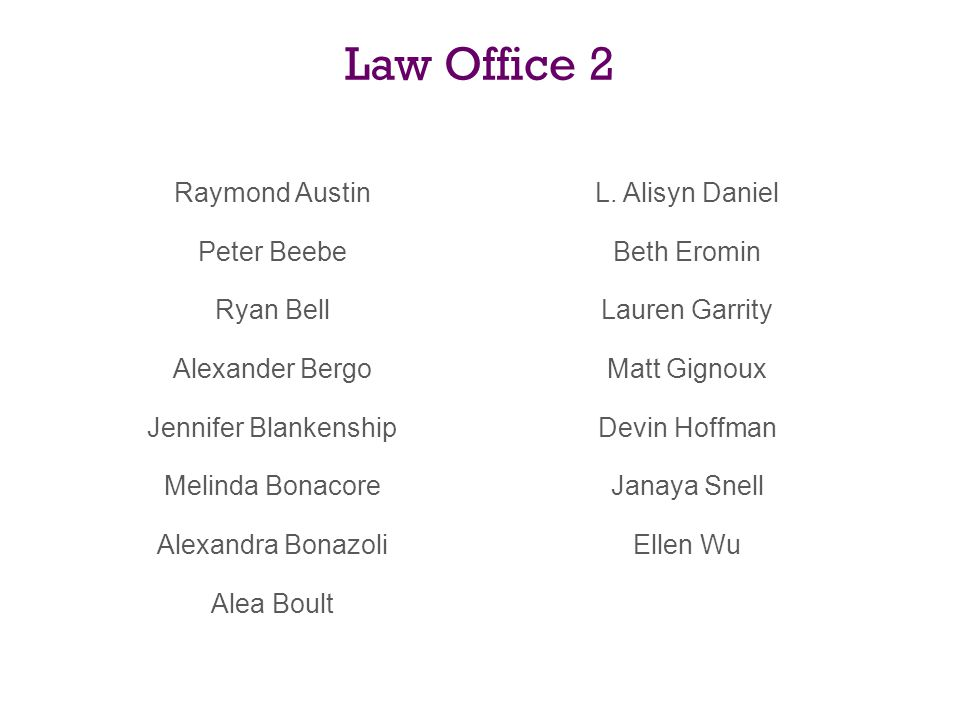 Law Office 2