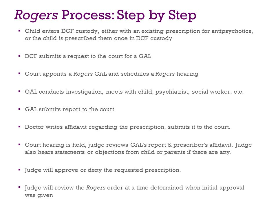 Rogers Process: Step by Step