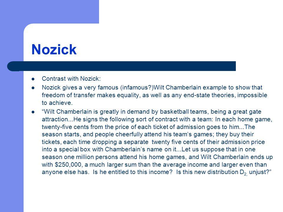 Nozick Contrast with Nozick: