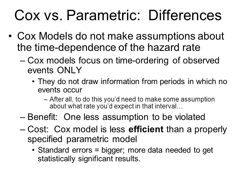 Cox vs. Parametric: Differences
