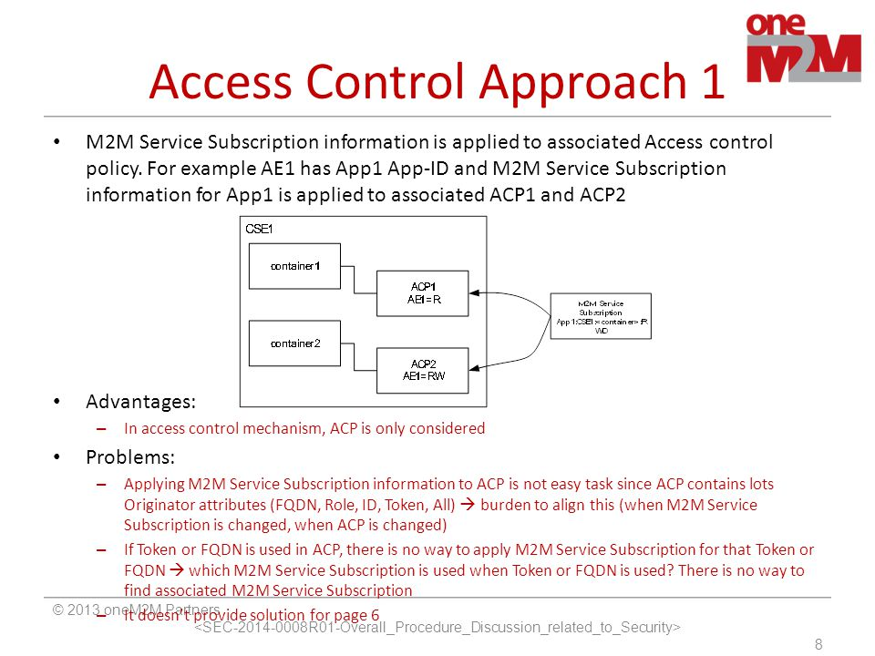 Access Control Approach 1