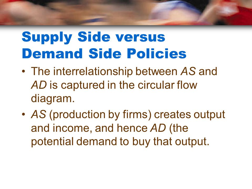Supply Side versus Demand Side Policies