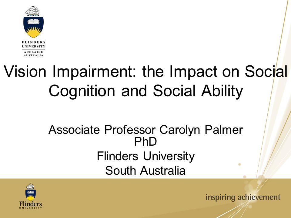 Vision Impairment: the Impact on Social Cognition and Social Ability