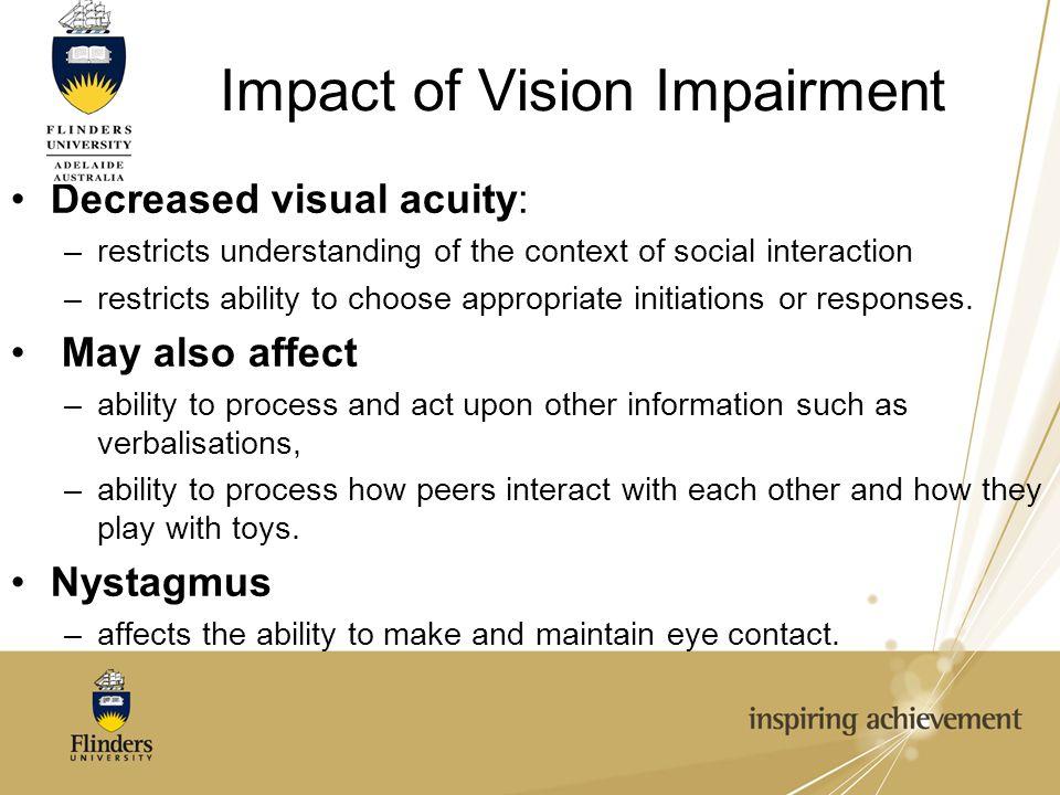 Impact of Vision Impairment