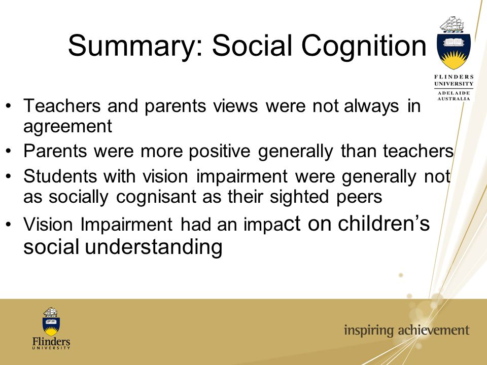 Summary: Social Cognition