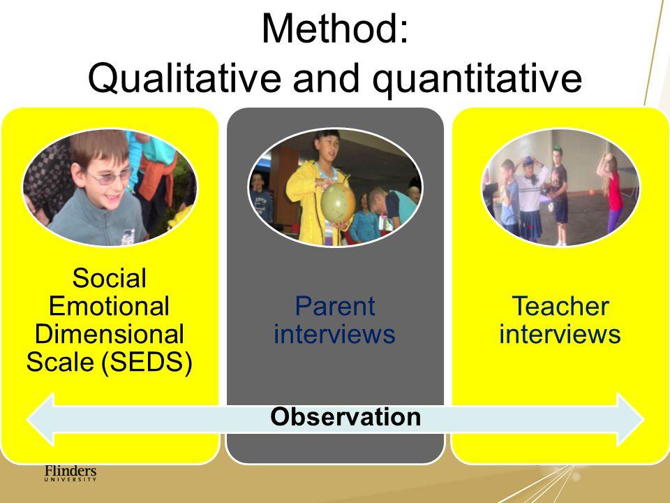 Method: Qualitative and quantitative