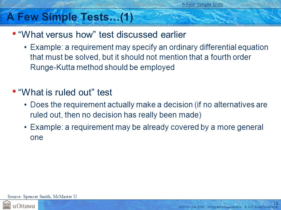 A Few Simple Tests…(1) What versus how test discussed earlier
