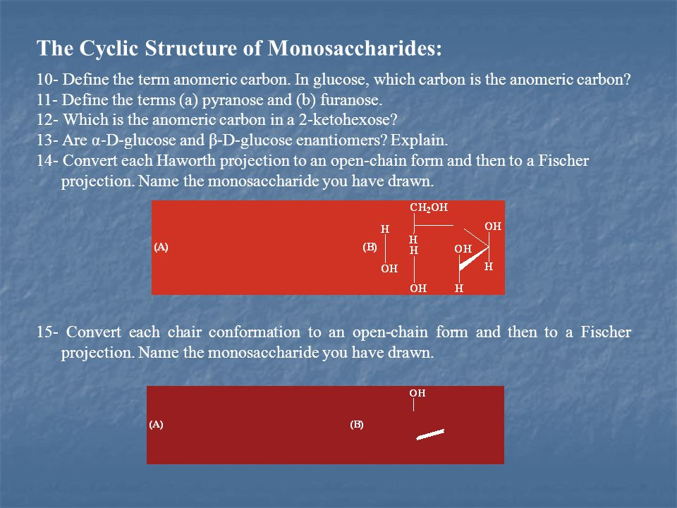 The Cyclic Structure of Monosaccharides: