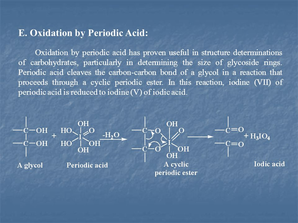 E. Oxidation by Periodic Acid: