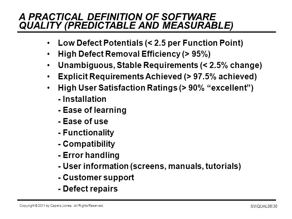 A PRACTICAL DEFINITION OF SOFTWARE