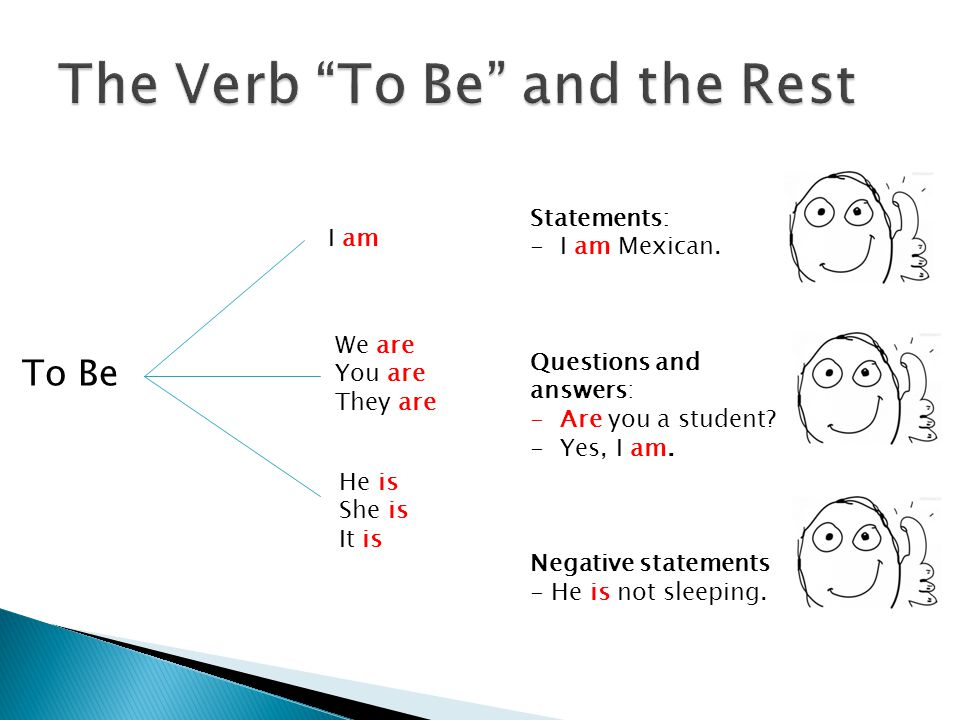 The Verb To Be and the Rest