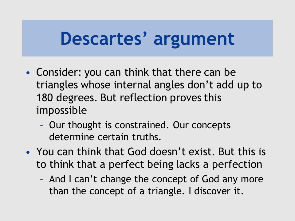 Descartes' argument