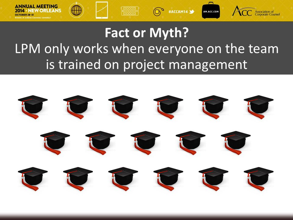 Fact or Myth LPM only works when everyone on the team is trained on project management
