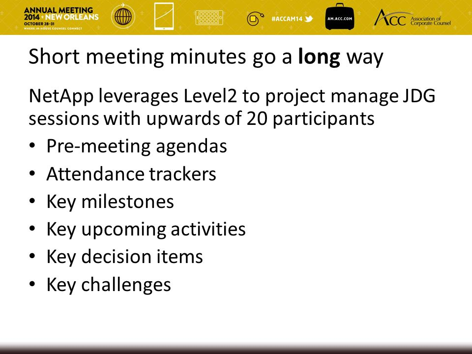 Short meeting minutes go a long way