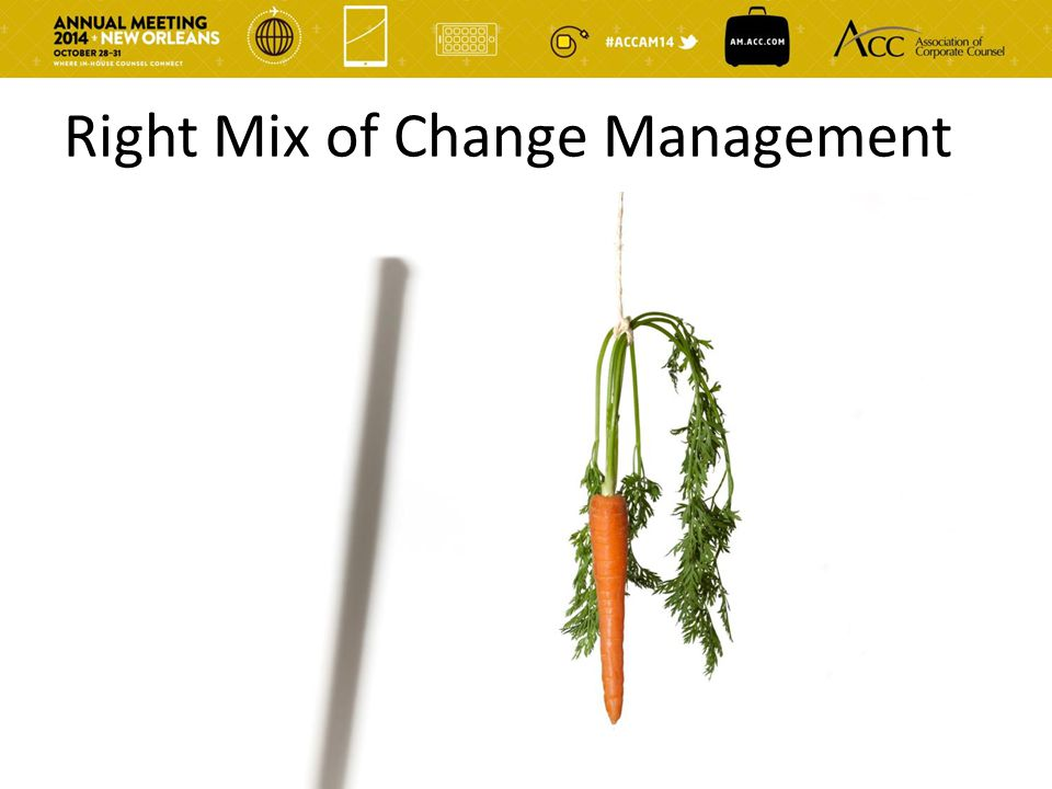 Right Mix of Change Management
