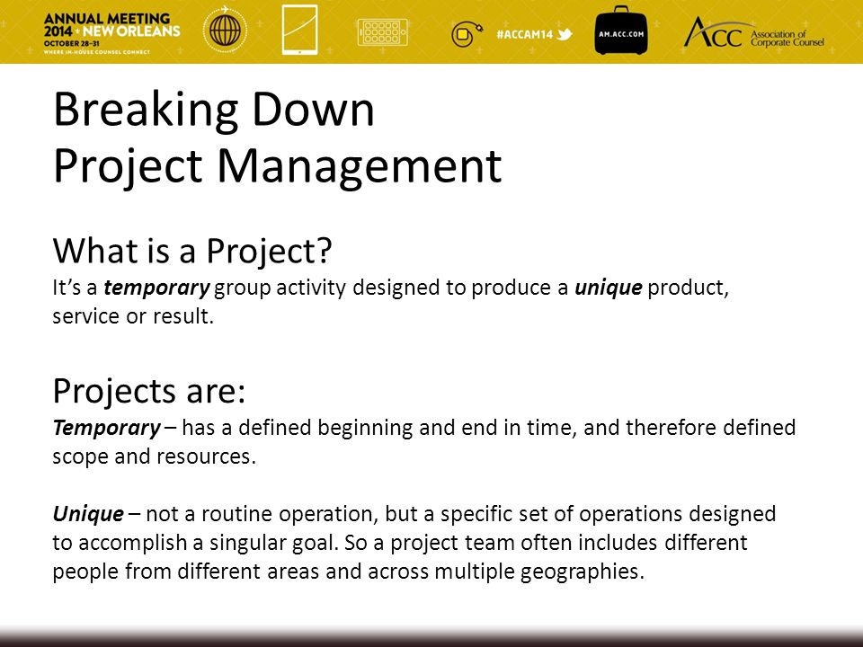 Breaking Down Project Management