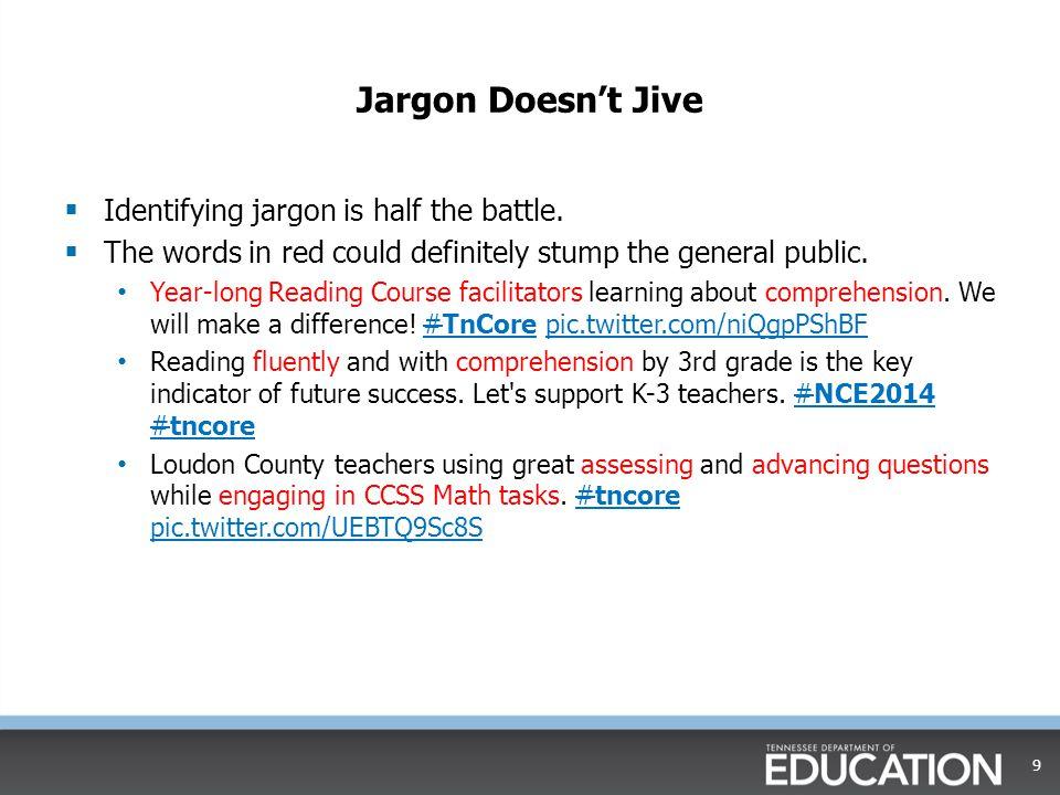 Jargon Doesn't Jive Identifying jargon is half the battle.