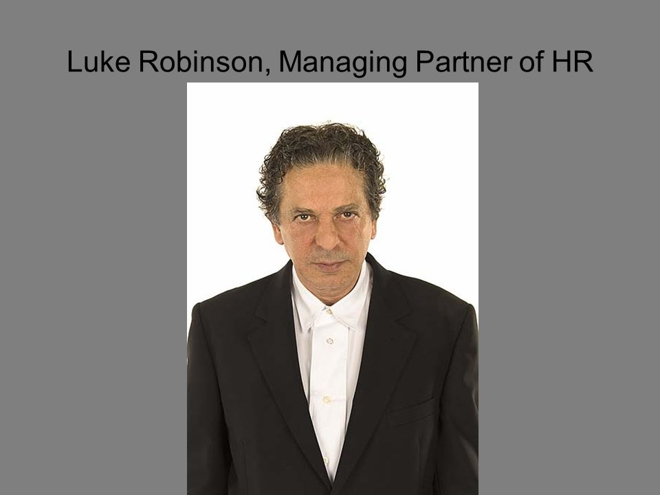 Luke Robinson, Managing Partner of HR
