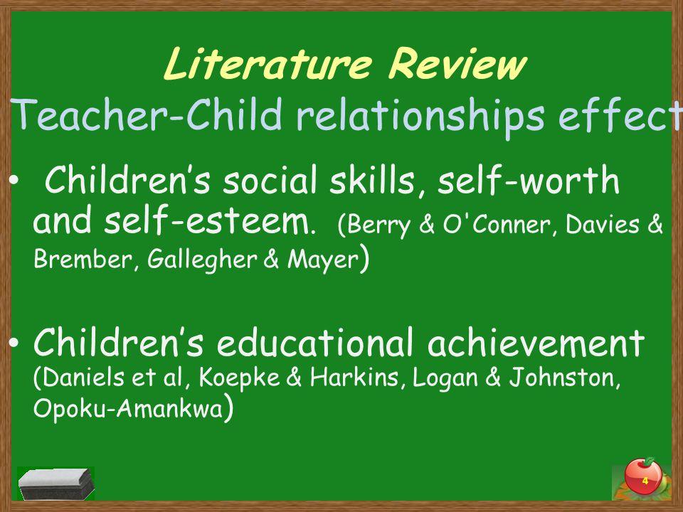 Teacher-Child relationships effect