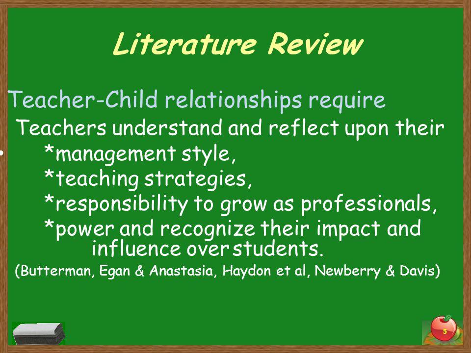 Teacher-Child relationships require
