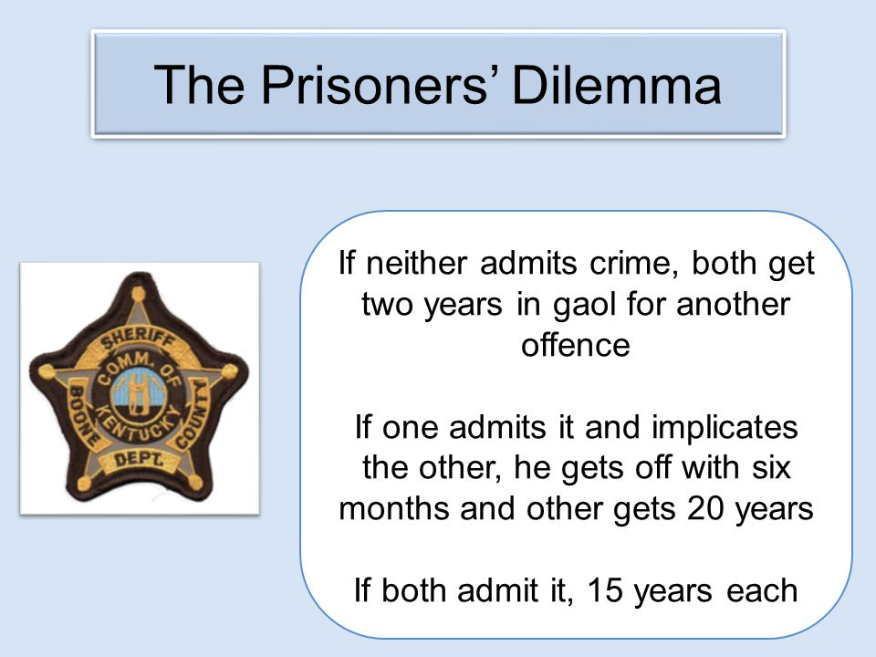 The Prisoners' Dilemma