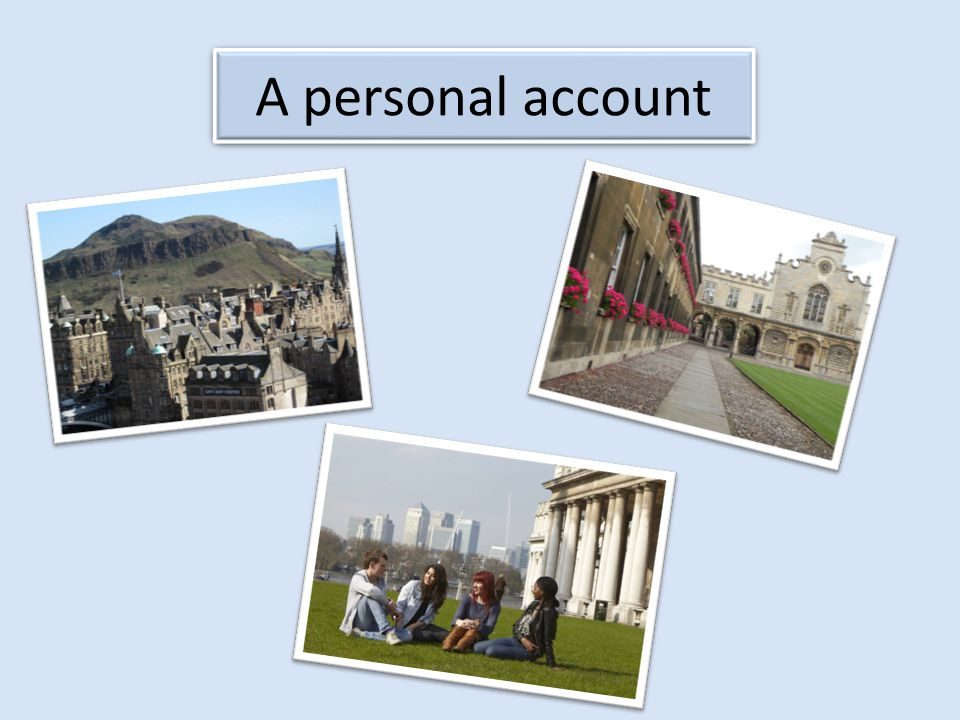 A personal account