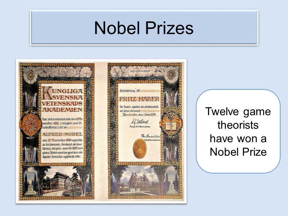 Twelve game theorists have won a Nobel Prize
