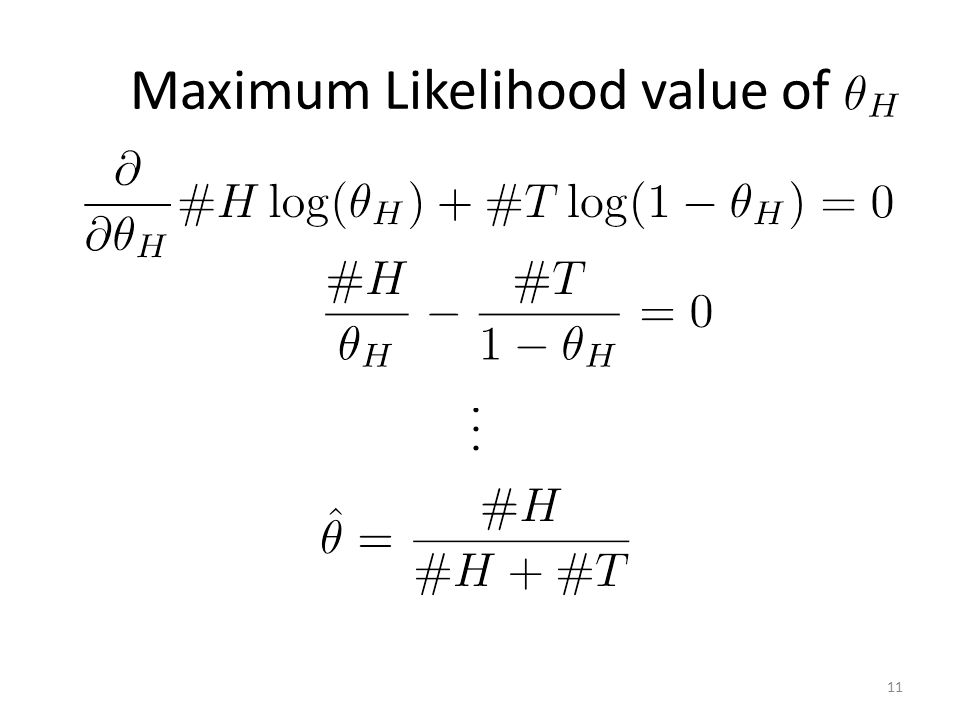 Maximum Likelihood value of