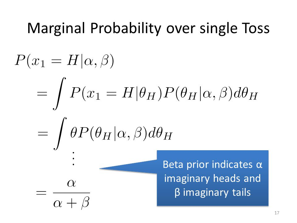 Marginal Probability over single Toss