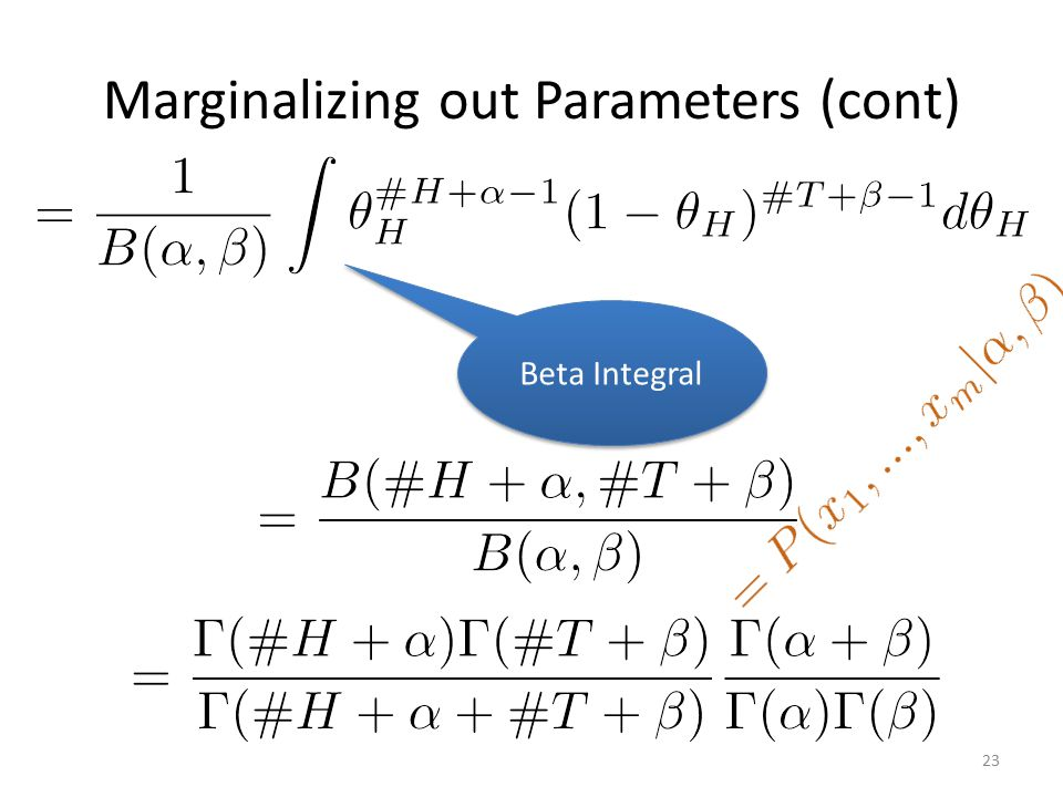 Marginalizing out Parameters (cont)