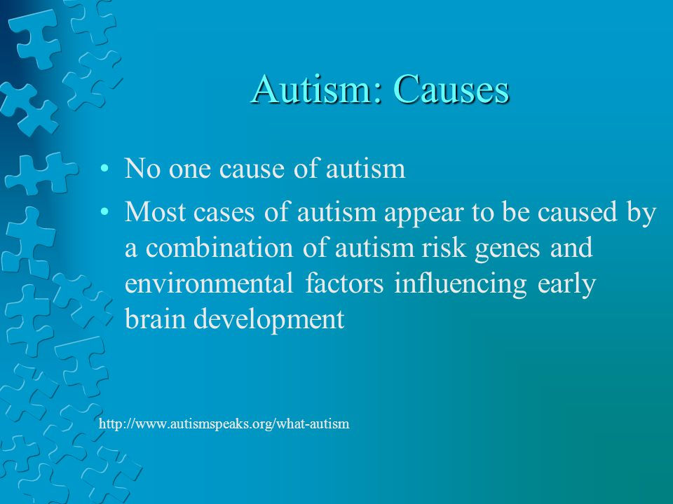 Autism: Causes No one cause of autism