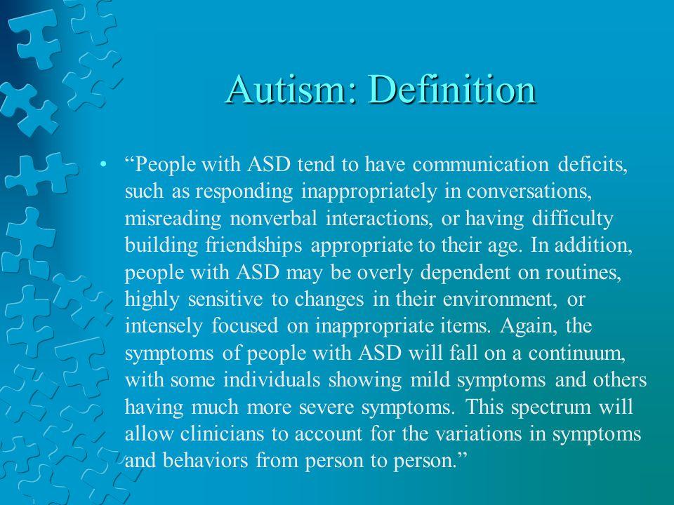 Autism: Definition