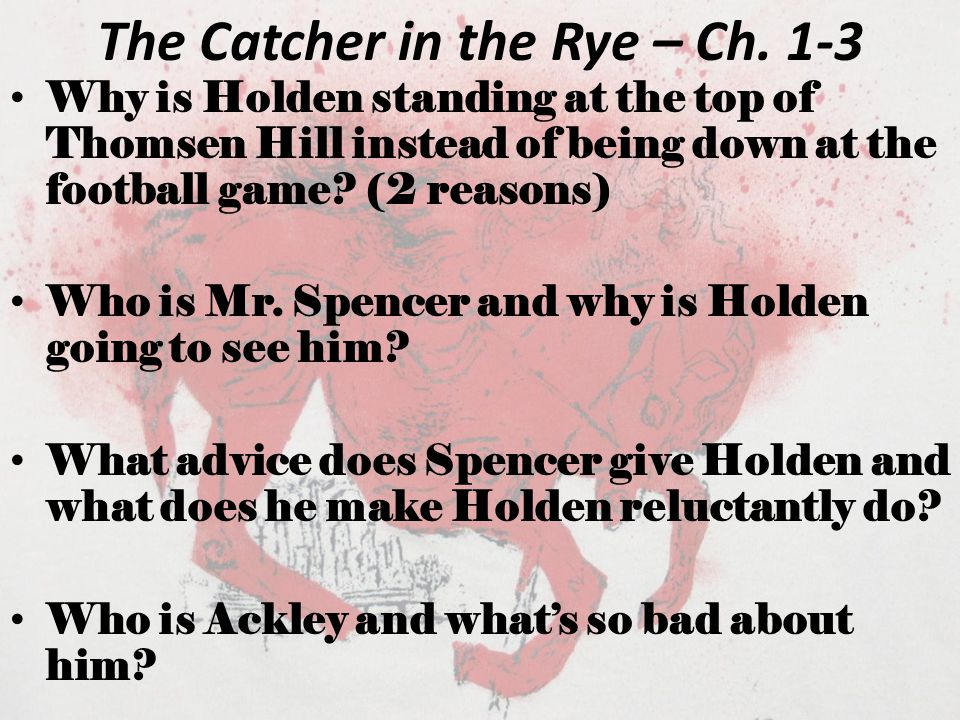 The Catcher in the Rye – Ch. 1-3
