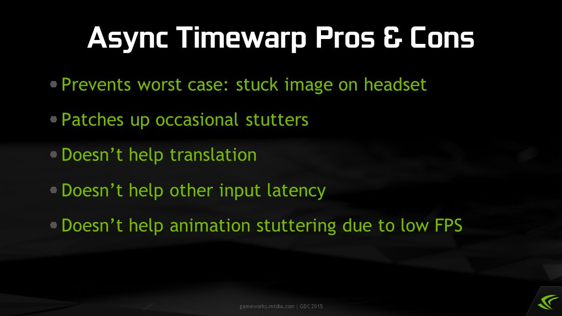 Async Timewarp Pros & Cons
