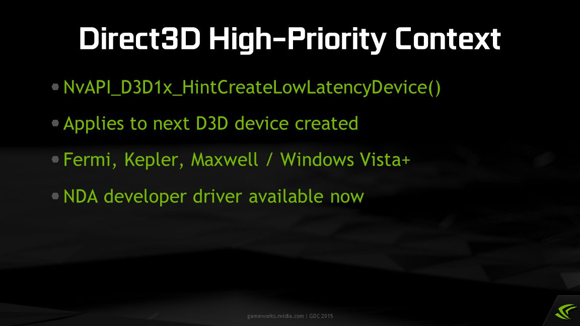 Direct3D High-Priority Context